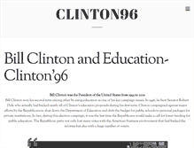 Tablet Preview of clinton96.org